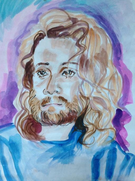 Renee Somers Sketch of Matt Hall